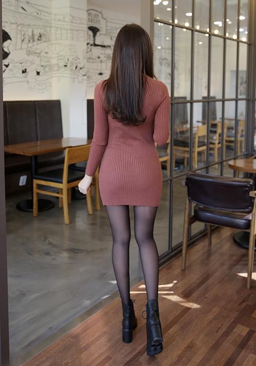 Corrugate Mini Sheath Dress