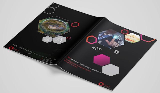 IT Services BI Fold Brochure Design | Red Theme