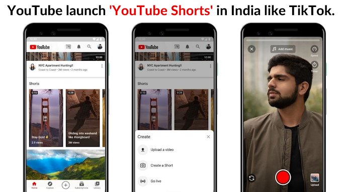 YouTube launch 'YouTube Shorts' in India like TikTok.