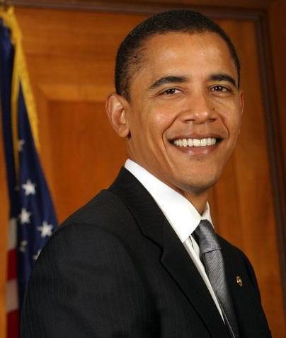 Foto de Barack Obama bien vestido