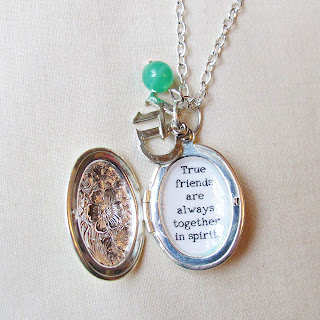 image anne of green gables locket necklace quote kindred spirits true friends two cheeky monkeys jewellery jewelry