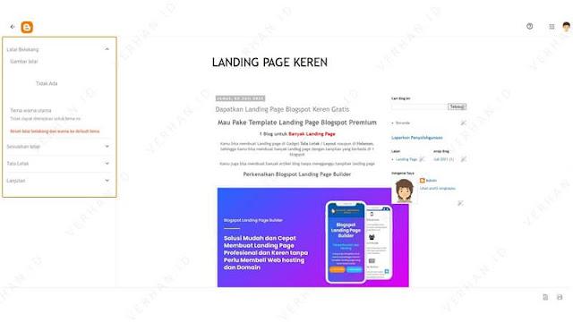 sesuaikan desain landing page