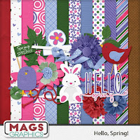 Kit : Hello spring by MagsGraphics