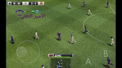 صور للعبة  pes 2011 mod pes 2020 للاندريود من الداخل :