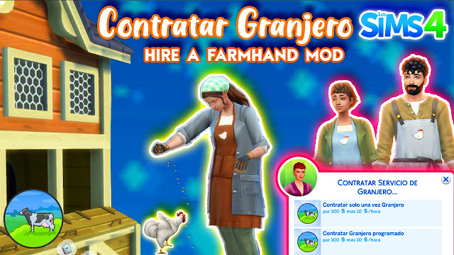 mod hire a farmhand the sims 4 2021 cottage living