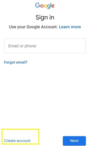 انشاء حساب جوجل بدون رقم هاتف