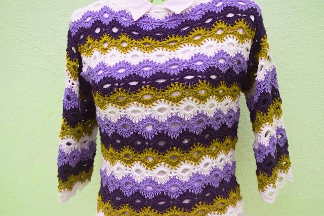 4 - Crochet Imagenes Jersey marinero con 4 rectangulos a crochet y ganchillo por Majovel crochet