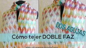 Cómo tejer Tejido Doble Faz en dos agujas