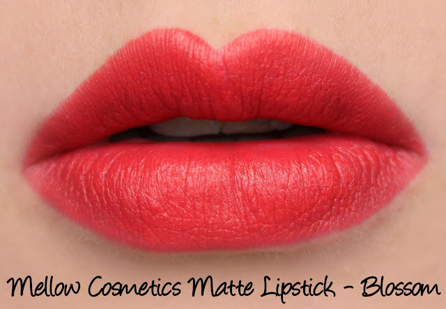 Mellow Cosmetics Ultra Matte Lipstick - Blossom swatches & review