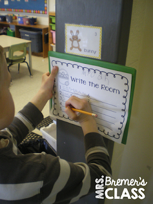 Easter Write the Room literacy center activity for vocabulary building and active learning!