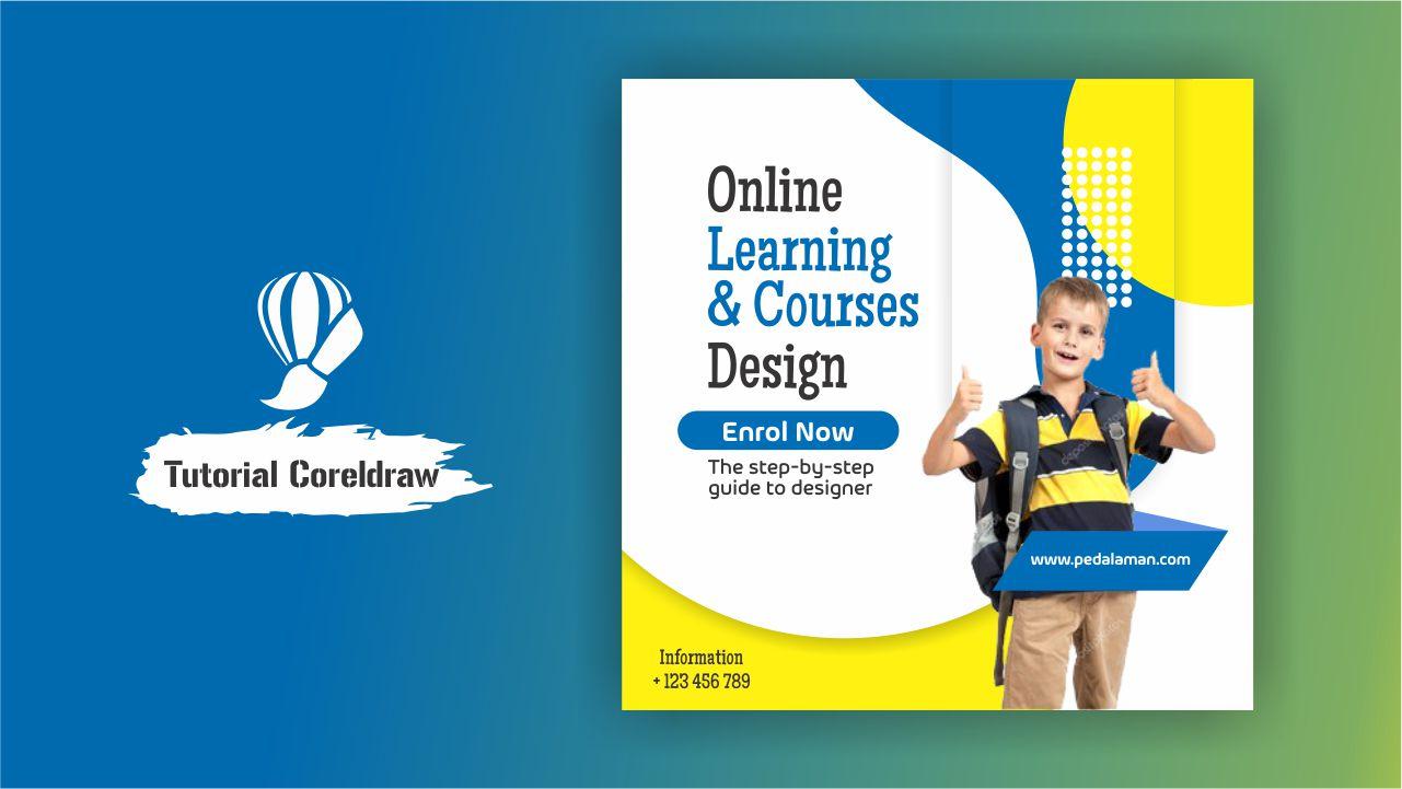 Membuat Flyer Online Kursus Desain di Coreldraw