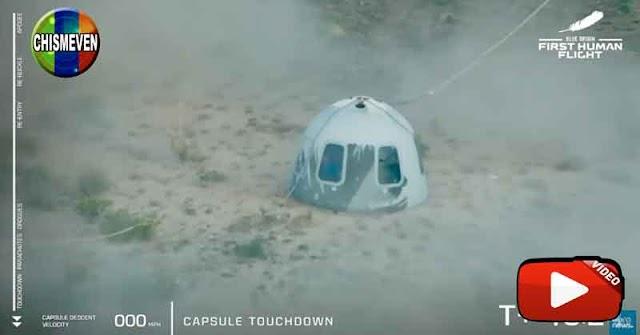 Jeff Bezos logró hacer el primer viaje espacial turístico de la historia