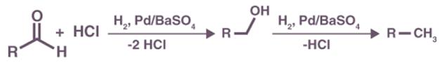 mecanismo redução rosenmund reação
