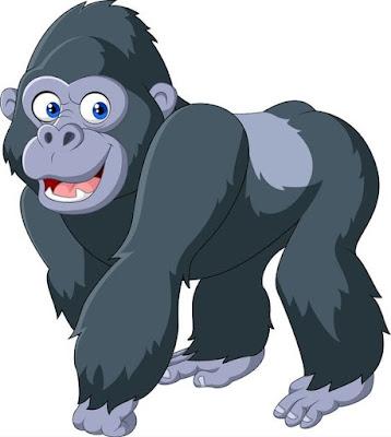 Gambar gorila kartun