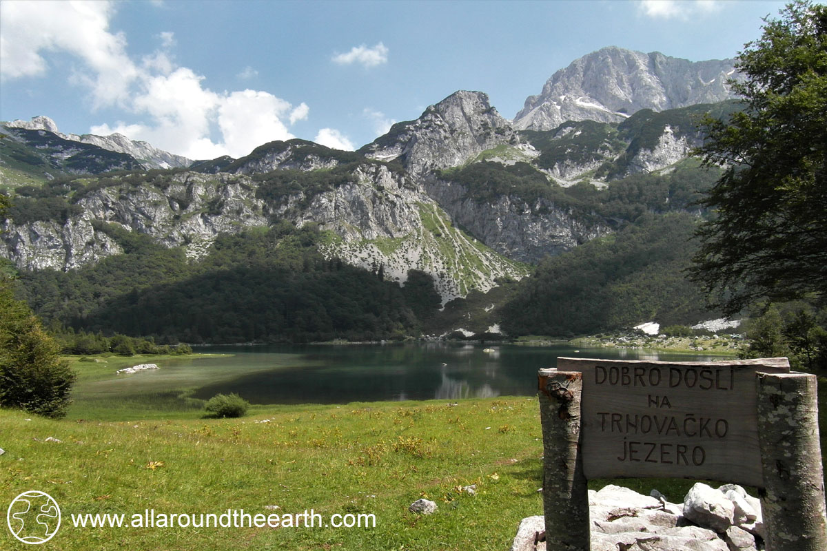 Welcome to Lake Trnovačko, Montenegro, from Bosnia Herzegovina Sutjeska National Park, Eastern Europe