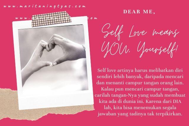 self love needs yourself