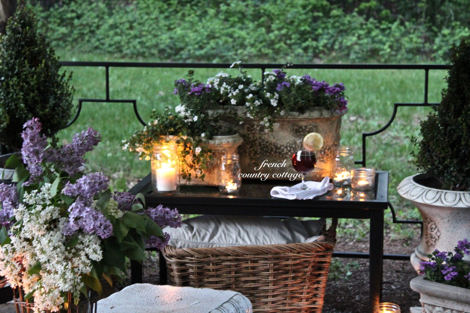 English Garden Inspired Patio Makeover with Kmart - FRENCH ... on Country Patio Ideas id=98690