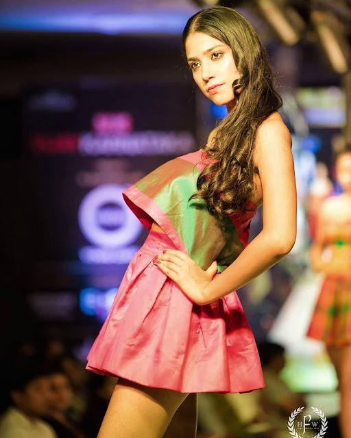Bollywood Model Jain Priyanka Latest Hot Ramp Walk Pics Navel Queens