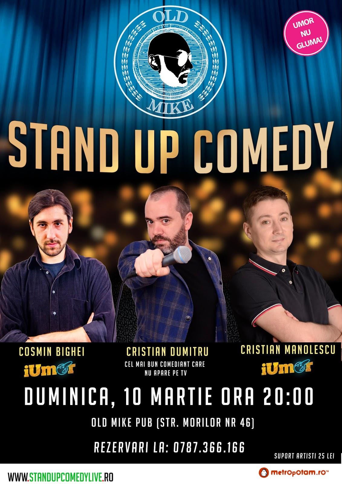 Stand-Up Comedy Duminica 10 Martie Bucuresti