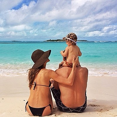 Gisele Bundchen is on vacation with his family
