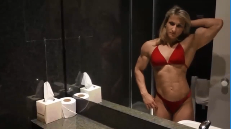 Clip female bodybuilder women with muscle + Flexible girl