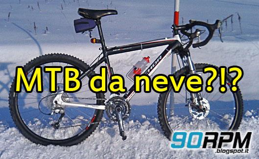 nella foto una MTB da neve con manubrio da corsa