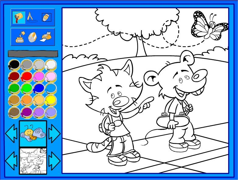 Детская игра раскраски онлайн