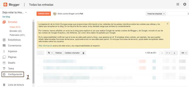 Paso 1 para volver a recibir los comentarios de tu blog por mail