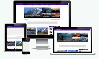 Blanter Violet Blogger Template Free Download With License|