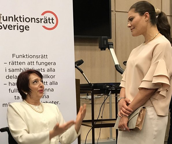 Crown Princess Victoria attended the celebration of 75th anniversary of the Swedish Disability Federation at Stockholm County Council