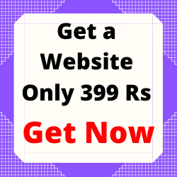 Get a website only for 399
