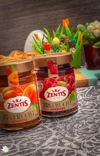Zentis 75% Frucht Schwarzkirsche Himbeere