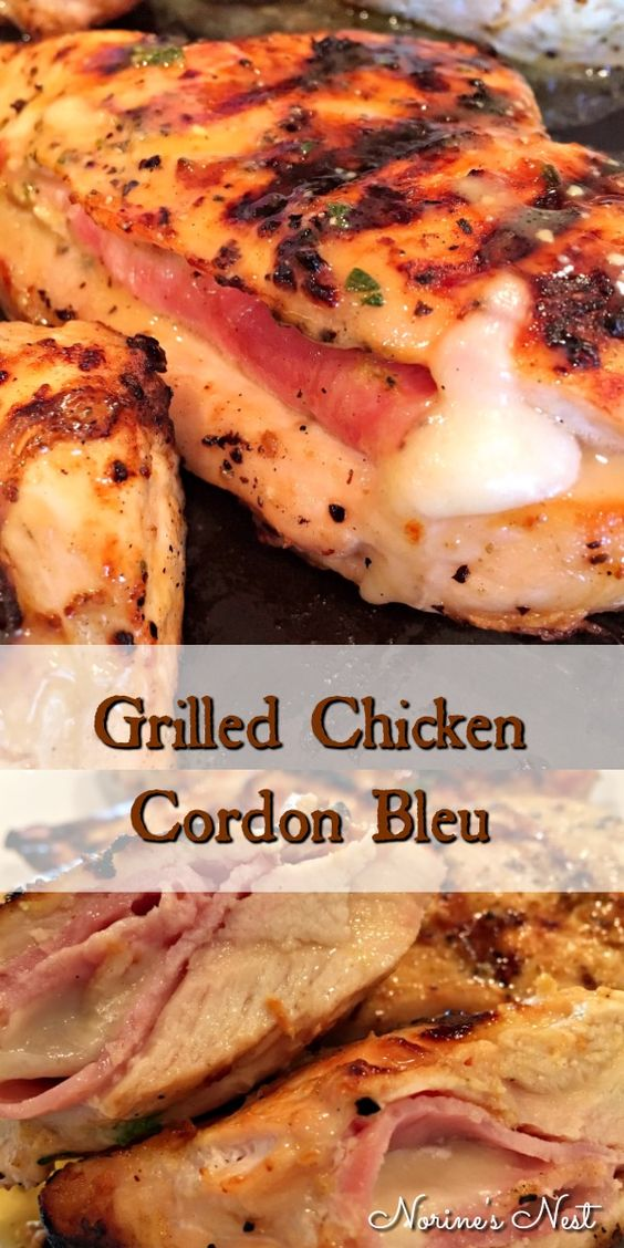 Grilled Chicken Cordon Bleu Recipe