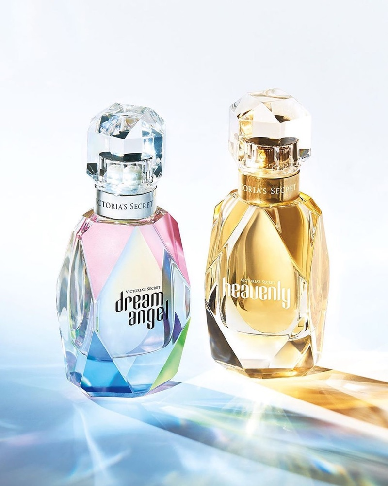 Victoria's Secret Dream Angel and Heavenly fragrance bottles