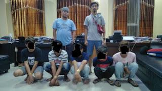 Diduga melakukan pemerkosaan, 5 Pria diamankan Sat.Reskrim Polres Pangkep