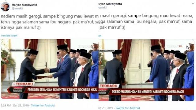 Viral Video Mendikbud Nadiem Makarim Tak Menyalami Ibu Negara dan Wakil Presiden