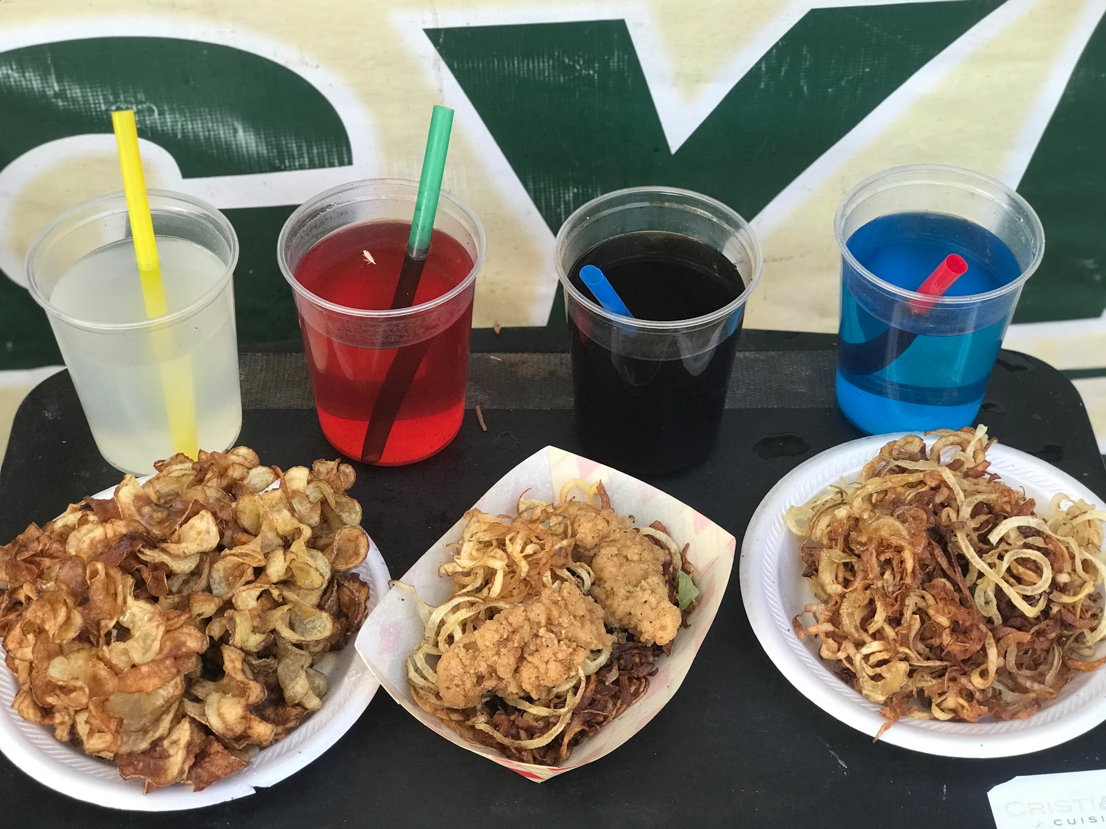 Image:Fried foods at carnival oktoberfest addison texas. Family Day Out: Soaking Up The Sun, Eating Junk Food And Capping Off Summer's End!