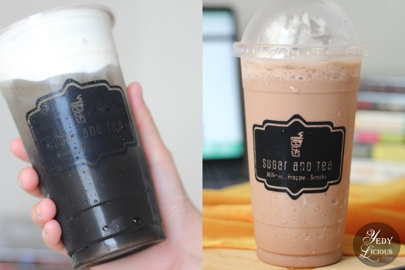 Sugar and Tea Milktea in Antipolo, City Rizal, A Blog Review by YedyLicious Manila Food Blog, Best Milk Tea in Antipolo Angono Rizal, Black Sugar Milk Tea, Oreo Cream Cheese Milk Tea, Choco Rocky Road Frappe, Choco Mouse Cream Cheese Milk Tea, Black Charcoal Winter Milk Tea