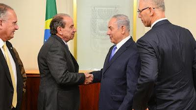 Netanyahu crê em potencial e quer aprofundar laços com Brasil
