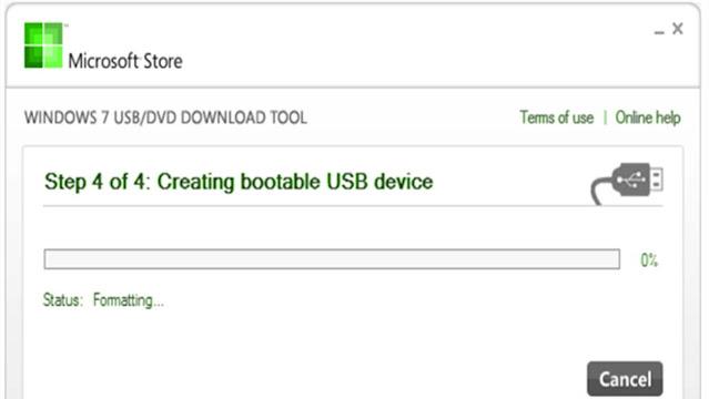 برنامج Windows USB/DVD Download Tool لحرق الويندوز على الفلاشة