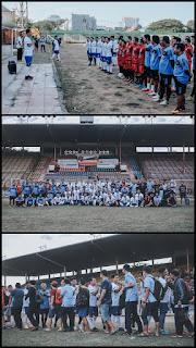 Kasubdit Regident Dit Lantas Polda Sulsel  Membuka Gelar Football Trofeo Menyambut HUT Lalu Lintas ke 65