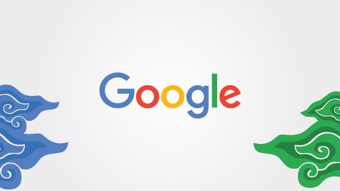 google logo batik pattern