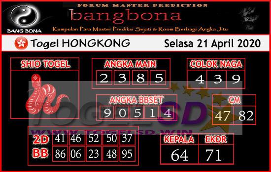 Prediksi HK 21 April 2020 - Bang Bona HK