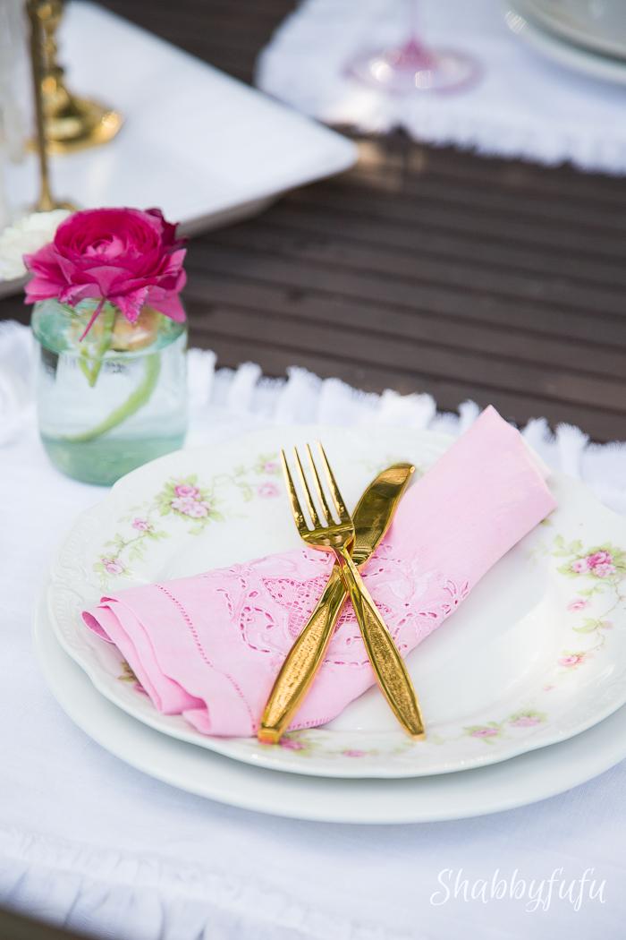ombre blush pink napkins