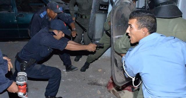 فرقة مكافحة العصابات تطلق الرصاص لتوقيف شخص صدم سيارة الشرطة عمدا