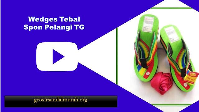 grosirsandalmurah.org - Wedges - Wedges Pelangi Spon TG