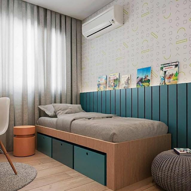 Dekorasi Kamar Tidur Minimalis dengan Furniture Multifungsi