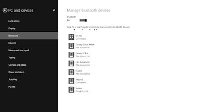 mengaktifkan bluetooth windows 8
