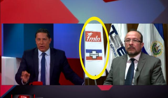 Federico del Rincón, de CNN emplaza a magistrado del TSE Fernando Argüello Téllez por promocionar a ARENA y FMLN