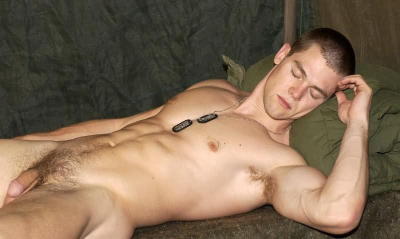 Army guy having his soft cut cock out